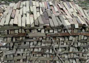 Природный камень лапша казачка полоса ломаная 310х220