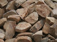 Бутовый камень желто-коричневый