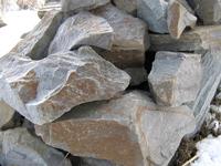 Бутовый камень серо-зеленый